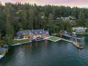 Incredible Lakeside Home with 2 Boat Garage from t...